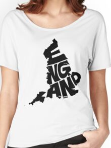 England Black Women's Relaxed Fit T-Shirt