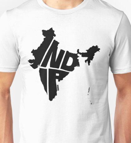 India Black Unisex T-Shirt