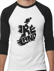 Ireland Black Men's Baseball ¾ T-Shirt
