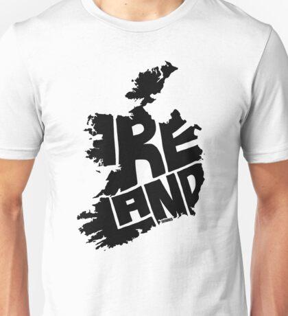 Ireland Black Unisex T-Shirt