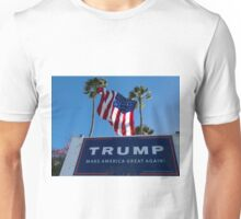 Donald Trump Campaign Sign with Huge USA Flag Unisex T-Shirt