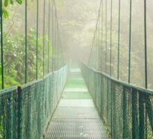 Suspension bridge in rainforest Sticker