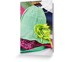 handmade hats Greeting Card