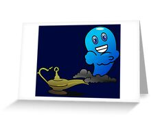Aladins Djin out of the Oil Lamp Greeting Card