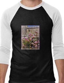 Pink Magnolia at Powderham Castle Men's Baseball ¾ T-Shirt