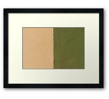 Beige Green  Framed Print