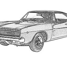 1968 Dodge Charger by surgedesigns