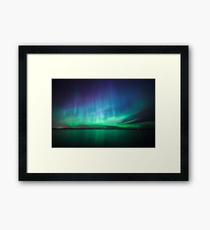 Beautiful northern lights Framed Print