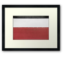 Black White Red Framed Print