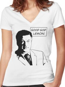Good God Lemon Women's Fitted V-Neck T-Shirt