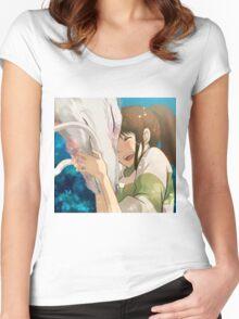 Sen and Haku  Women's Fitted Scoop T-Shirt