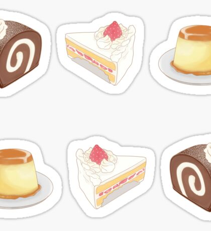 dessert set Sticker