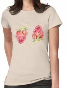 Strawberry II Womens Fitted T-Shirt
