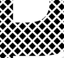 P Black Squares Sticker
