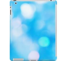 Blue defocused background with bokeh lights iPad Case/Skin