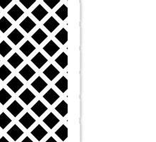 L Black Squares Sticker