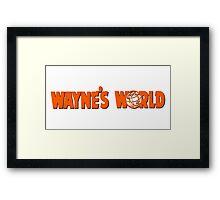 Wayne's World Orange Logo Framed Print