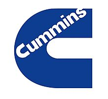 Cummins Blue Logo Photographic Print