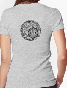 Sun and Moon Mandala Womens Fitted T-Shirt