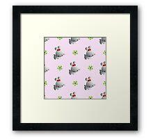 funny cute rabbits Framed Print