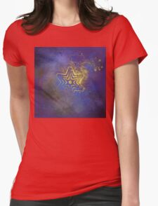 Gold star with purple  mandala Womens Fitted T-Shirt