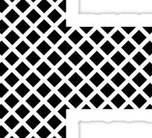 F Black Squares Sticker