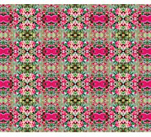 Pink Floral Fusion Kaleidoscope  Photographic Print