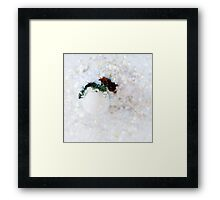 Abstract blurred white Christmas decoration with baubles Framed Print