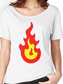 Fire / Flames Icon Women's Relaxed Fit T-Shirt