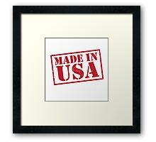 Made In The USA Red Framed Print