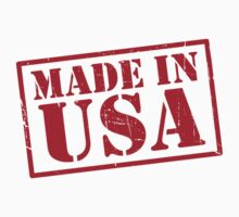 Made In The USA Red Kids Clothes