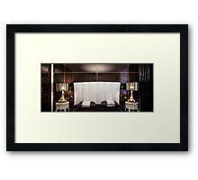 Interior bedroom dark colors Framed Print
