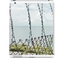 Sea behind barbed wire  iPad Case/Skin