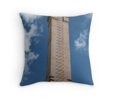 industrial chimney with a ladder Throw Pillow