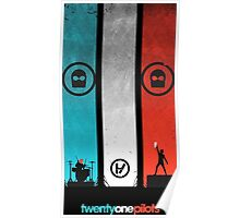 Twenty One Pilots - Blue and Red Poster