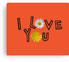 I love you in flame Canvas Print