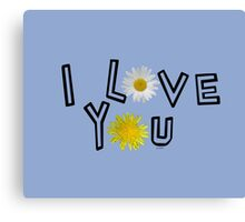 I love you in serenity Canvas Print