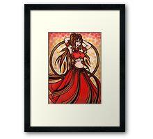 Scarlet Belly Dancer Framed Print