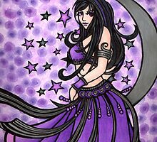 Violet Moon Bellydancer by lacychenault