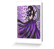 Violet Moon Bellydancer Greeting Card