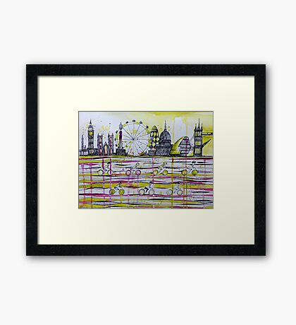 Commuter race Framed Print