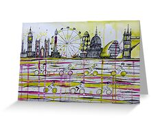 Commuter race Greeting Card