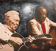 Herb and Milt, Jazz Icons by Joe McHarg