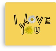 I love you in primerose yellow Canvas Print