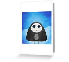 Geometric Cute Cartoon Penguin Greeting Card