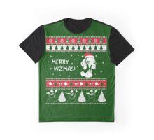 MERRY VIZMAS Art - Vizsla Ugly Christmas Sweater Design Graphic T-Shirt