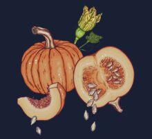 Pumpkin night life pattern Kids Tee