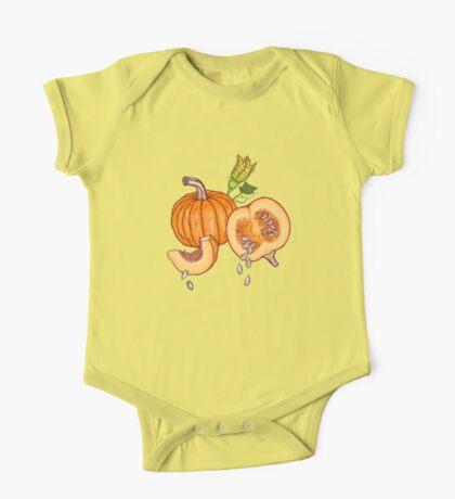 Pumpkin night life pattern One Piece - Short Sleeve