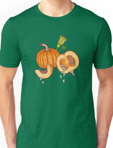 Pumpkin night life pattern Unisex T-Shirt