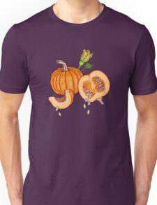 Pumpkin night life pattern Unisex T-Shirt